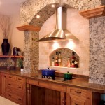 Ceramic Tileworks for Traditional Kitchen with Wheelchair