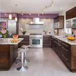 Ceramic vs Porcelain Tile for Contemporary Kitchen with Modern Bar Stool