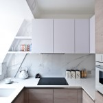 Ceramic vs Porcelain Tile for Contemporary Kitchen with White Sink