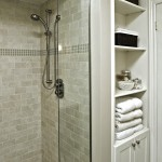Ceramic vs Porcelain Tile for Traditional Bathroom with Tile Wall