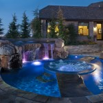 Certain Teed for Eclectic Pool with Stone Work