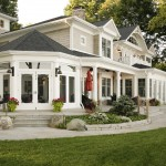 Certainteed Landmark for Traditional Patio with Transom Windows
