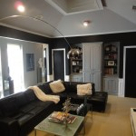 Certapro for Contemporary Living Room with Black Leather Sofa