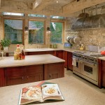 Cesar Stone for Rustic Kitchen with Pot Filler