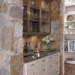 Cesar Stone for Traditional Kitchen with Glass Front Cabinets