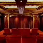 Champlin Movie Theater for Traditional Home Theater with Bronze Light