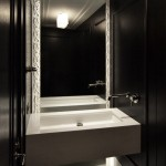 Chicago Faucet Shoppe for Contemporary Bathroom with Dramatic Floor to Ceiling Mirror