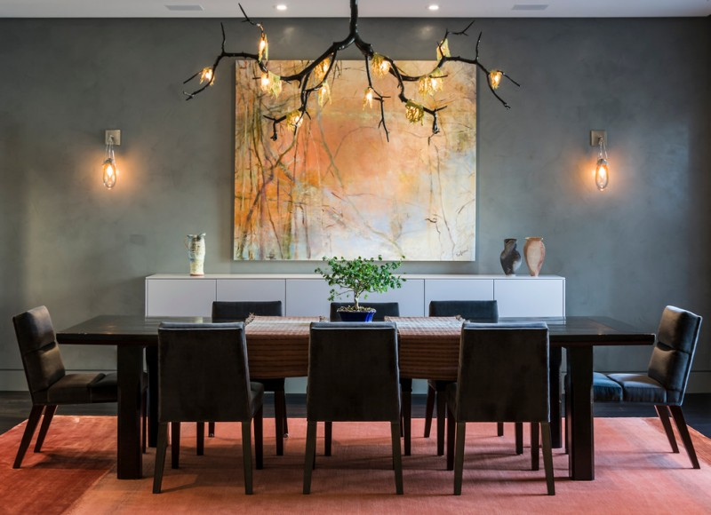 Chicago Points of Interest for Contemporary Dining Room with Mohair Dining Chairs