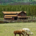 Chippewa Ranch Camp for Rustic Exterior with Wood Beam
