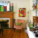 Christmas Pictures Ideas for Eclectic Family Room with Bold Colors