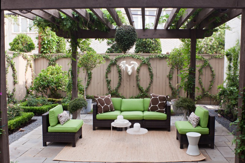 Circlepix for Transitional Patio with Beige Rug