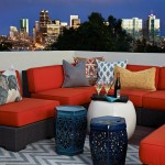 City Floral Denver for Eclectic Deck with Throw Pillows