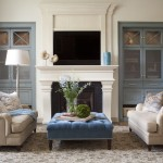 City Floral Denver for Transitional Living Room with Tufted Ottoman
