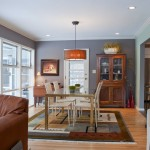 Clary Sage Tulsa for Eclectic Dining Room with Blue Walls