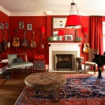 Classical Kusc for Eclectic Living Room with Baseboards