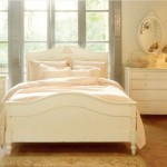 Classical Kusc for Shabby Chic Style Bedroom with Classic Nightstand
