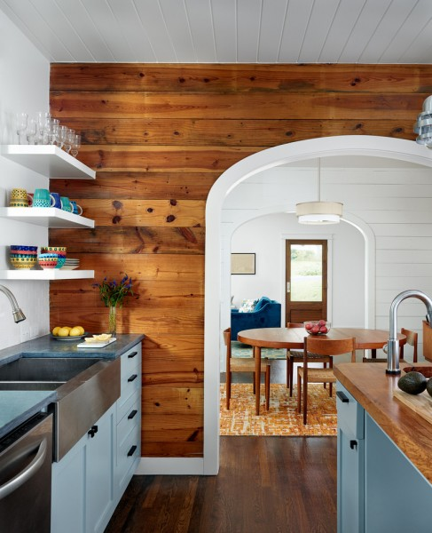 Clayton Appliance for Farmhouse Kitchen with Accent Wall