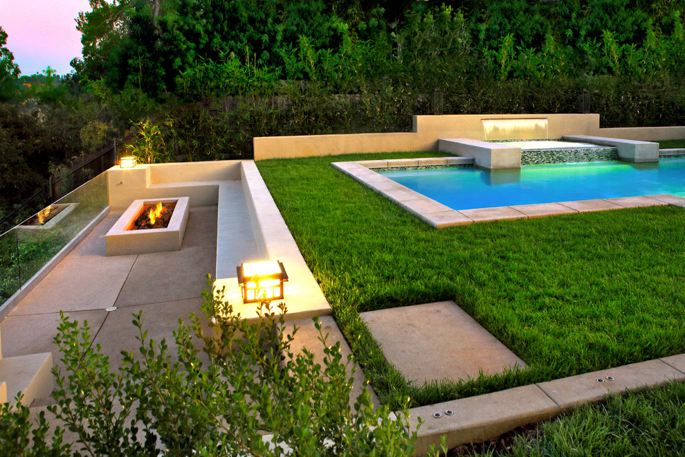 Clover Pools for Contemporary Landscape with Contemporary