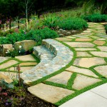 Clover Pools for Mediterranean Landscape with Grass Grout