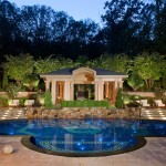 Clover Pools for Mediterranean Pool with Fire Feature