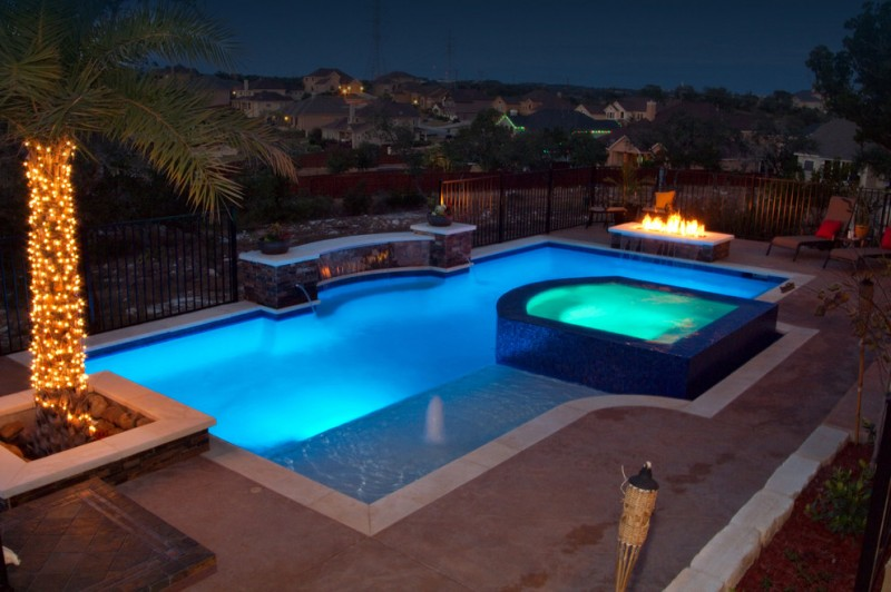 Cody Pools for Traditional Pool with Spa