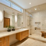 Colefax and Fowler for Contemporary Bathroom with Tile Shower
