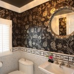 Colefax and Fowler for Traditional Powder Room with Crystal