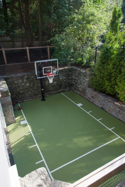 College Basketball Court Dimensions for Traditional Landscape with Basketball Court