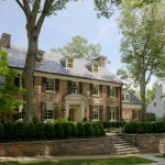 Colonial Parking Dc for Traditional Exterior with Stone Wall