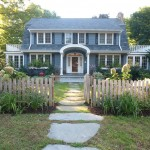 Colonial Parking Dc for Traditional Landscape with Hydrangeas