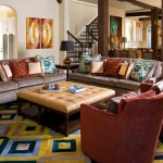 Color Matcher for Mediterranean Family Room with Green