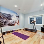 Color Matcher for Traditional Home Gym with Yoga Room