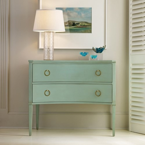 Concave Chest for Contemporary Bedroom with Wood Furniture