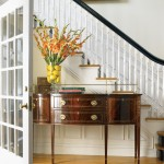 Concave Chest for Traditional Entry with Turned Balusters