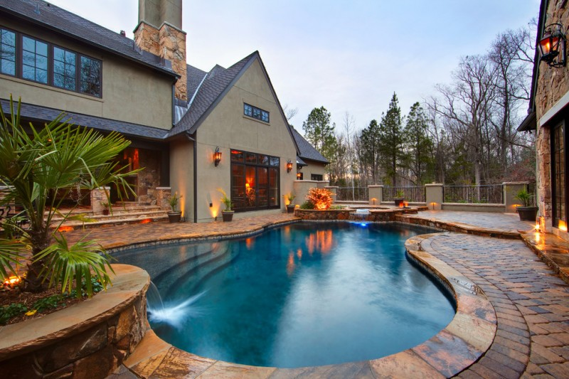 Concord Pools for Traditional Pool with Lanterns