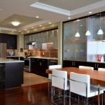 Conestoga Cabinets for Contemporary Kitchen with Breakfast Bar