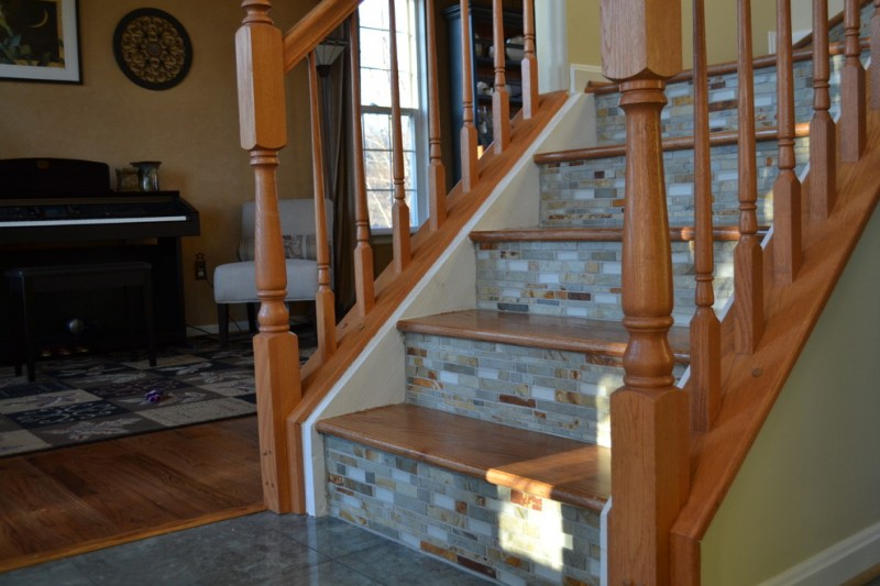Conestoga Tile for Eclectic Staircase with Stair Riser Tile