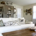 Consignment Classics for Shabby Chic Style Living Room with Closet
