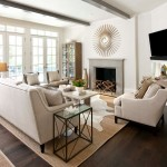 Corvallis Furniture for Traditional Family Room with Tv on Wall