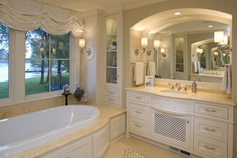 Cosa Marble for Traditional Bathroom with Single Sink Vanity