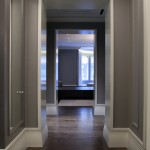 Cost to Refinish Hardwood Floors for Contemporary Hall with Gray