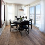 Cost to Refinish Hardwood Floors for Traditional Dining Room with Curtains