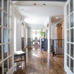 Cost to Refinish Hardwood Floors for Traditional Hall with Console