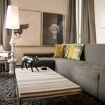 Counch for Contemporary Living Room with Coffee Table