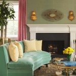 Counch for Transitional Living Room with Green Couch