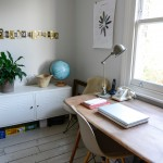 Courtney Adamo for Eclectic Home Office with Office Bulletin Board