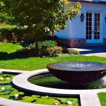 Covington Electric for Traditional Landscape with Fountain Border