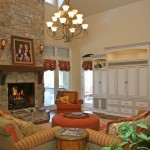 Craftmaster Furniture for Rustic Family Room with Chandelier