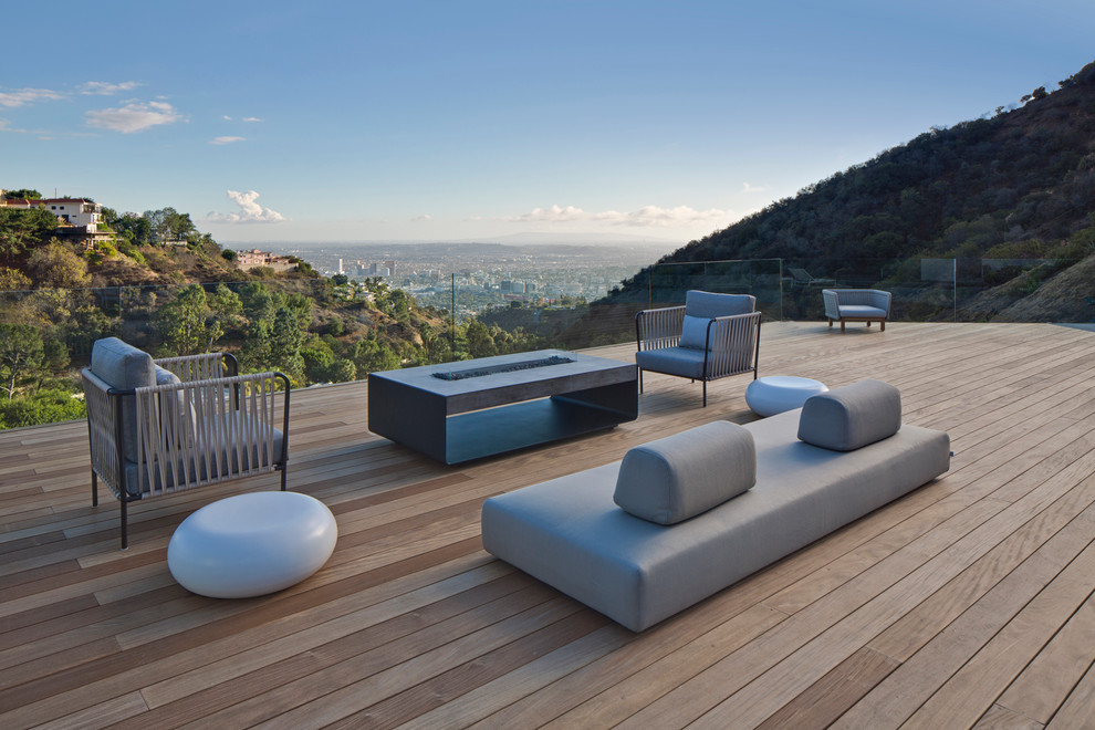 Craigslist Los Angeles Furniture for Contemporary Deck with Glass Fence