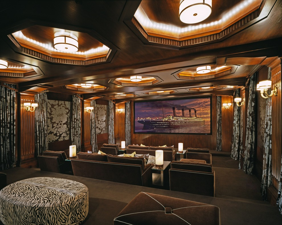 Craigslist Los Angeles Furniture for Traditional Home Theater with Brown Sofa